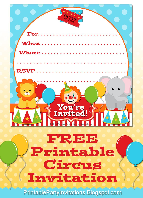 #FREE Printable Circus Party Invitation