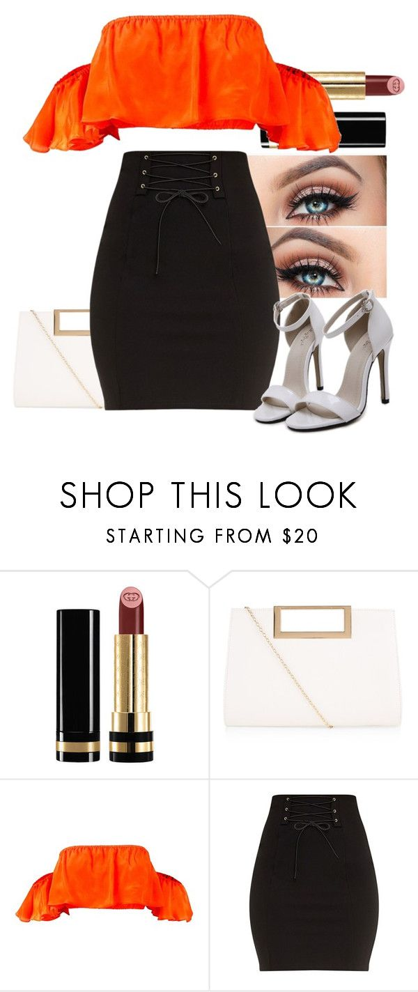 """""""Untitled #1210"""" by miss-eli-pink ❤ liked on Polyvore featuring Gucci and New Look"""