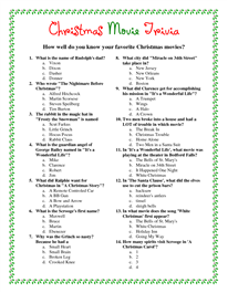 Printable Christmas Movie Trivia Christmas Trivia Games Christmas Trivia Christmas Song Trivia