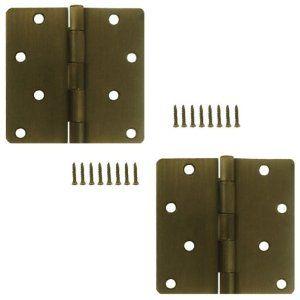 Stanley 821 439 4 Inch 1 4 Radius Door Hinges Antique Brass Pack Of 2 By Stanley 5 97 Residential Door Hinges Residential Doors Door Hinges Antique Brass