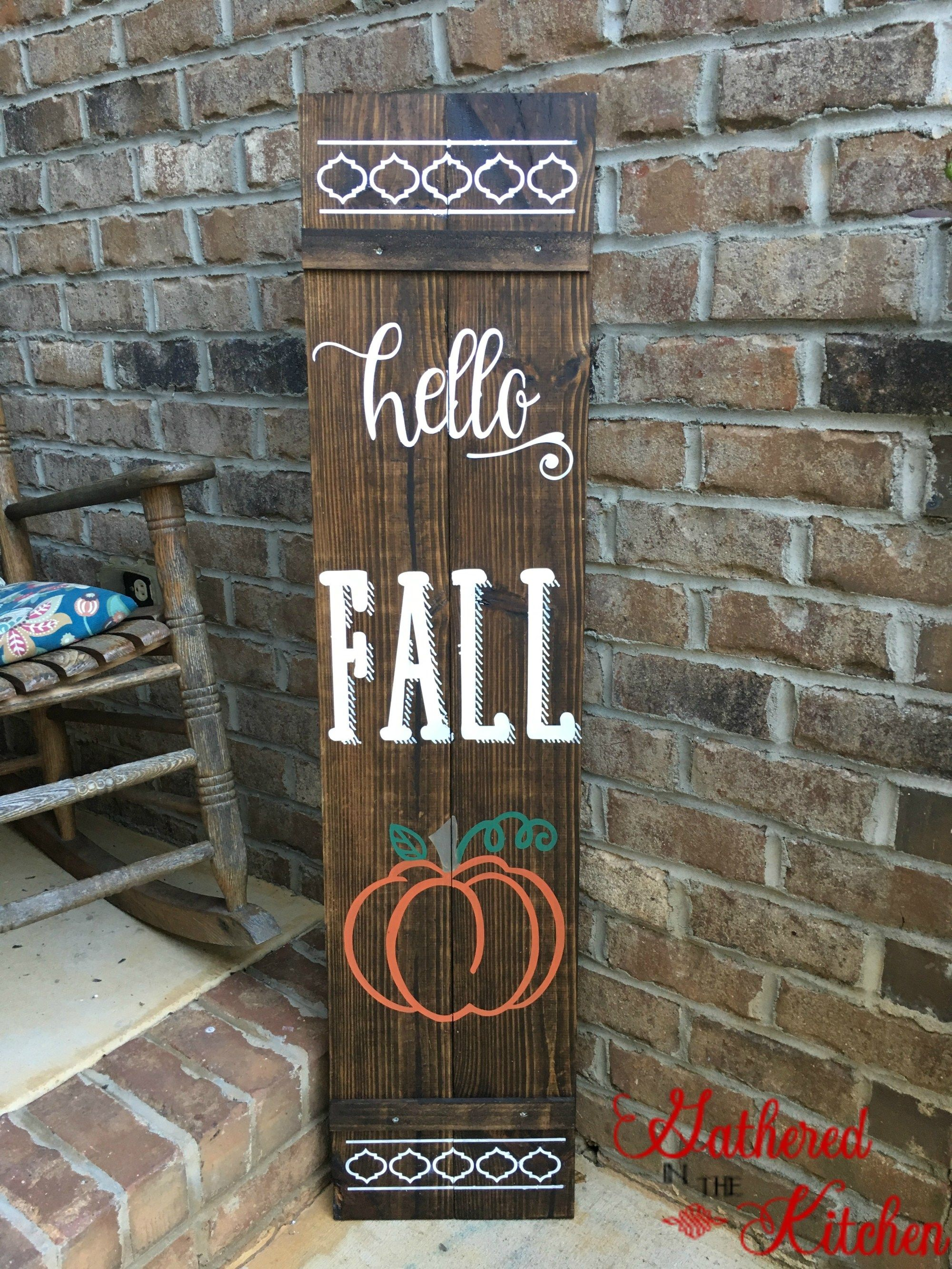 Diy Wooden Fall Front Porch Sign With Images Front Porch Signs Porch Signs Fall Wood Signs