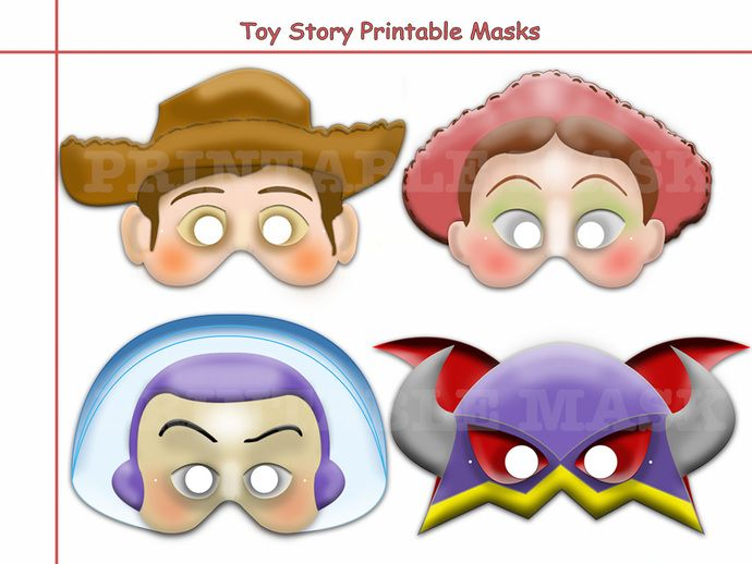 Unique Disney Toy Story Printable Masks Collectionpartybirthday InvitemaskWoodyBuzzJessieEmperor Zurgprop