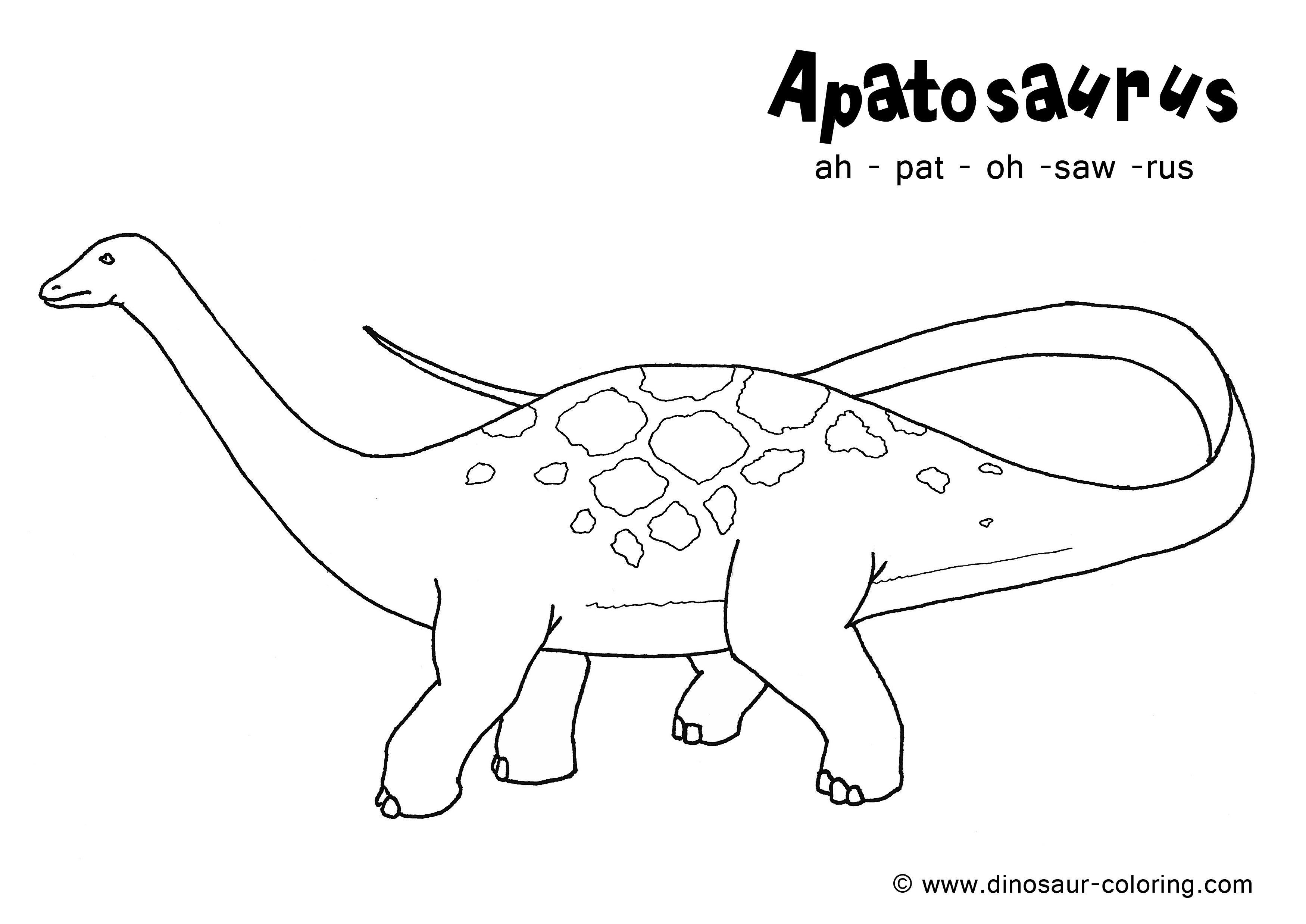 Apatosaurus Dinosaur Coloring Dinosaur Coloring Pages Coloring