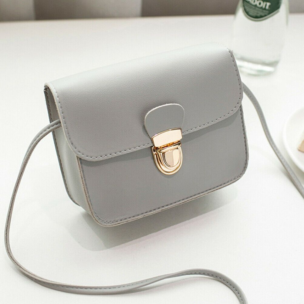 Women Small Handbag PU Leather Shoulder Tote Satchel Messenger Mini Cross Body