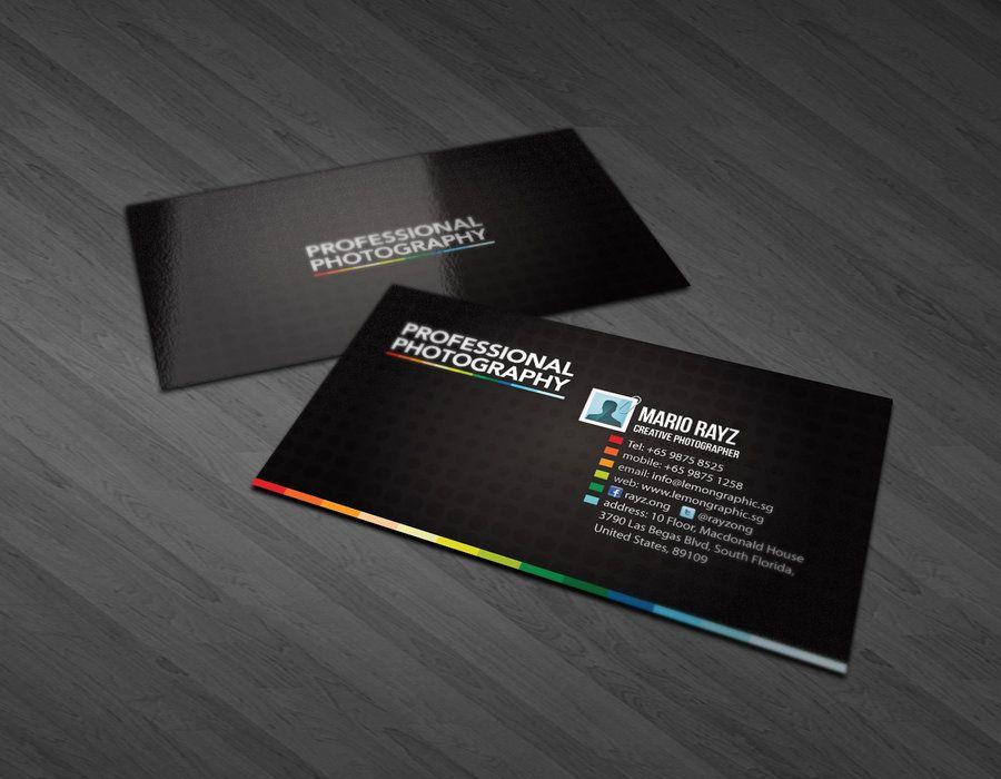 Resultado de imagen para photographer business card