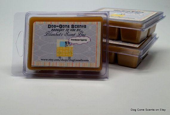 Hard Eggnog 'Grandpups Eggnog' Wax Melt / Tart by DogGoneScents  #waxmelt #waxtart #vanilla #dog #eggnog #candle