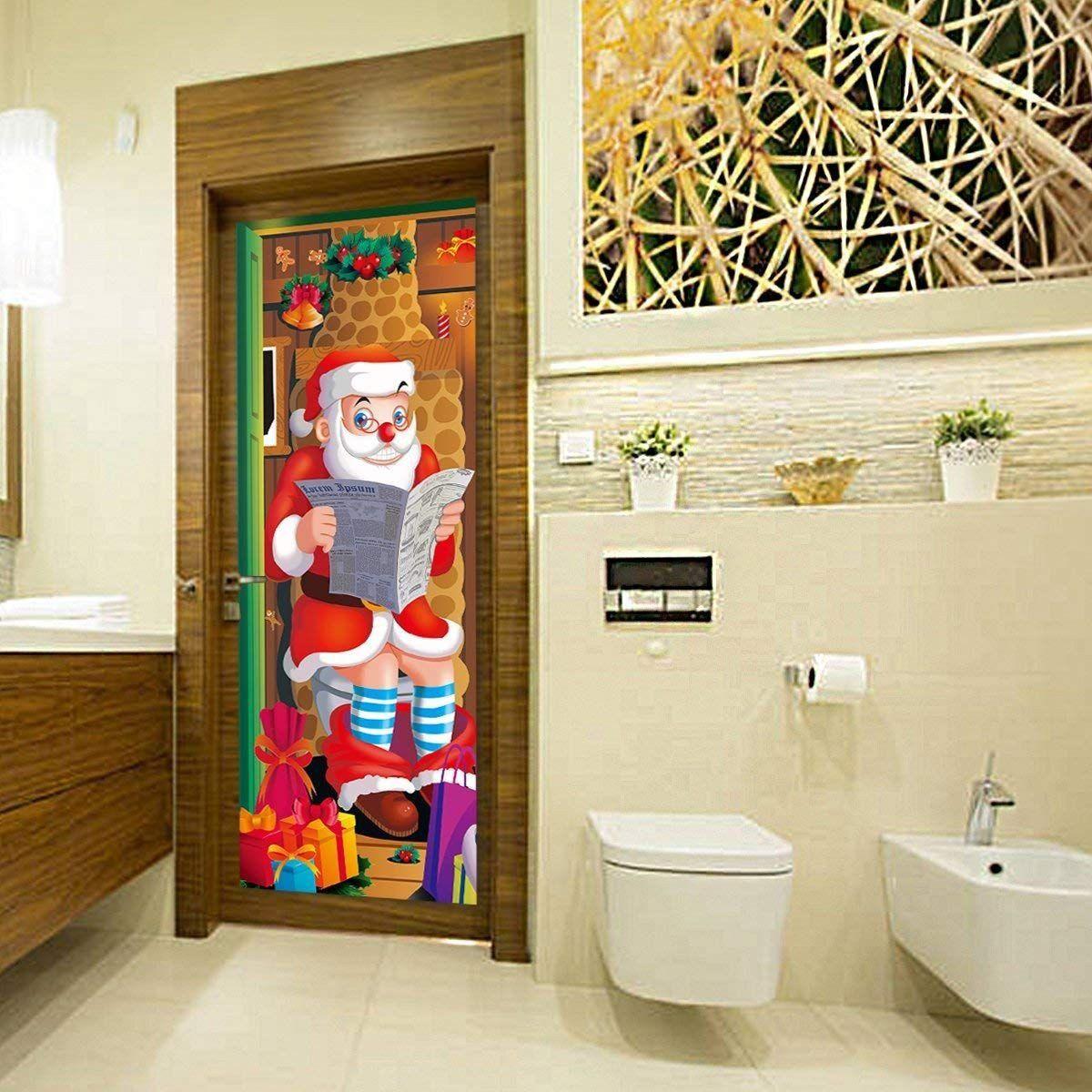 Bathroom Wall Decor Amazon New Amazon Unomor 9pcs Christmas Door