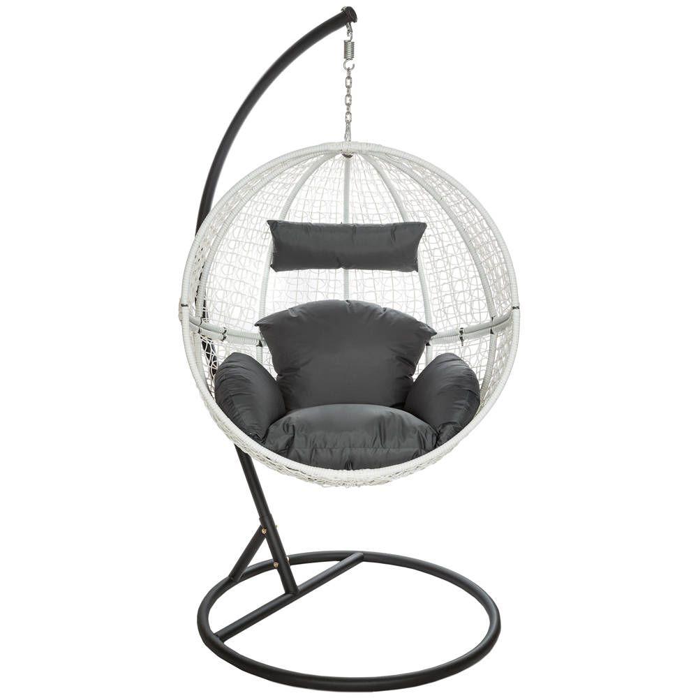 rattan h ngesessel mit gestell inkl kissen braun in 2019. Black Bedroom Furniture Sets. Home Design Ideas