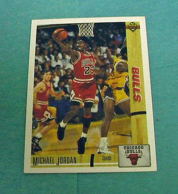 Basketball Michael Jordan Guard 44 Chicago Bulls 1991 Card Vintage NBA