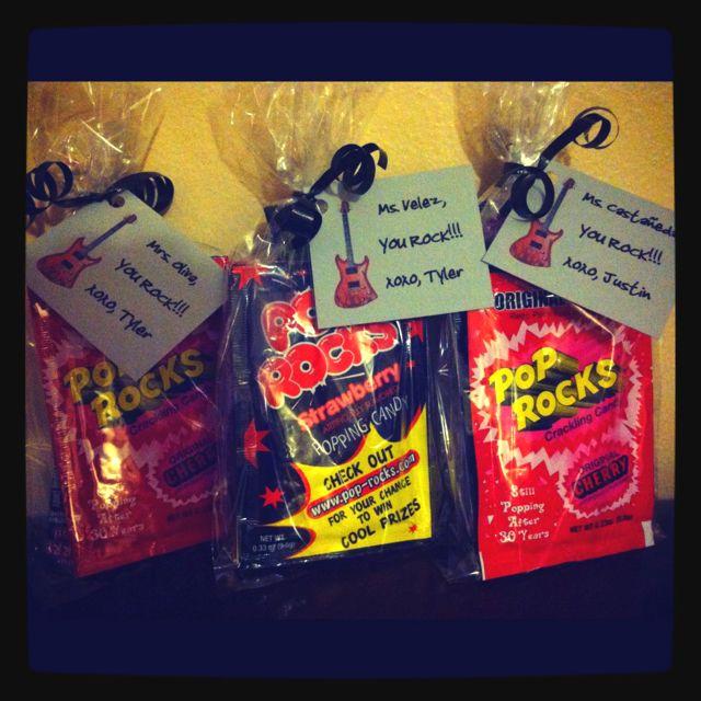 Teacher appreciation gifts quot you rock goodie bags