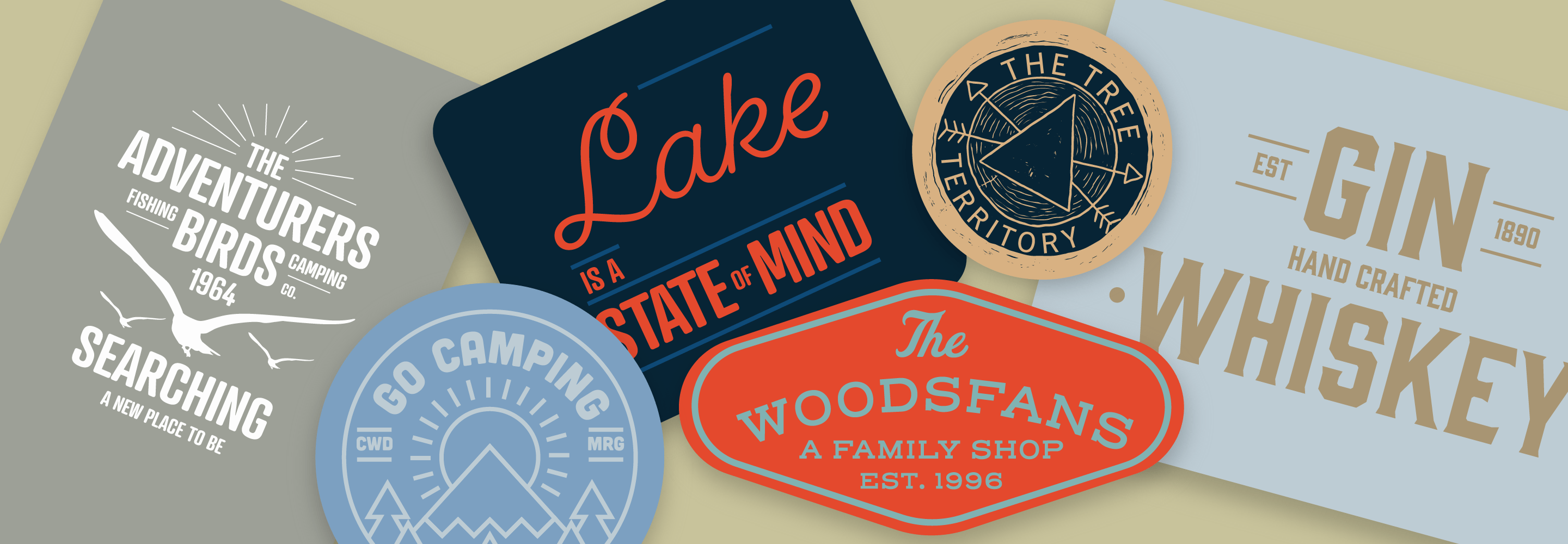 Download Browse fonts in the Retro Glamping Font Pack font pack ...