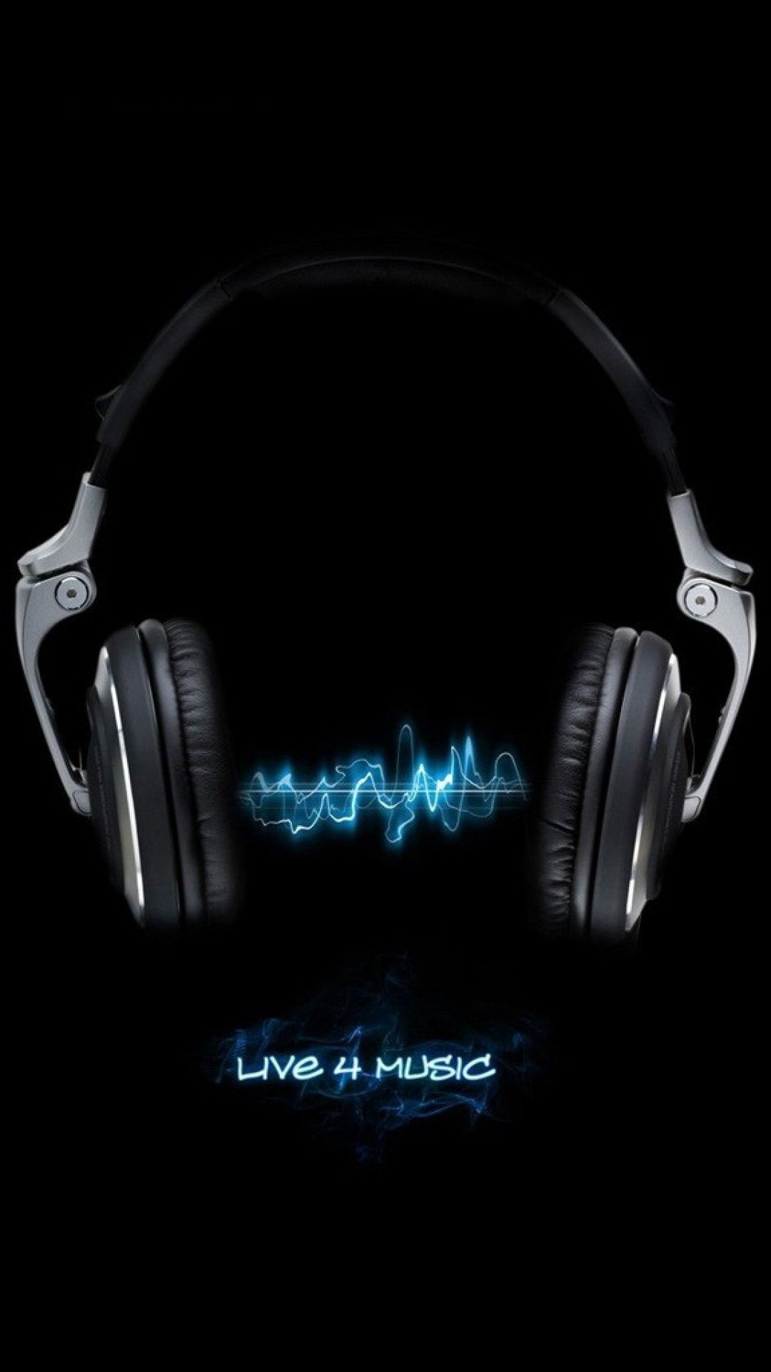 Live For Music Black Neon Blue Iphone 6 Plus Hd Wallpaper Iphone Wallpaper Music Wallpaper Iphone Neon Headphones Art