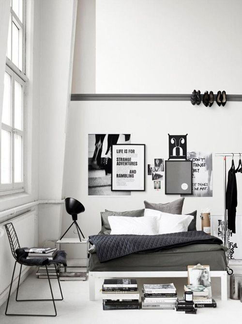 Black and white bedroom Home Pinterest Bedrooms and Interiors