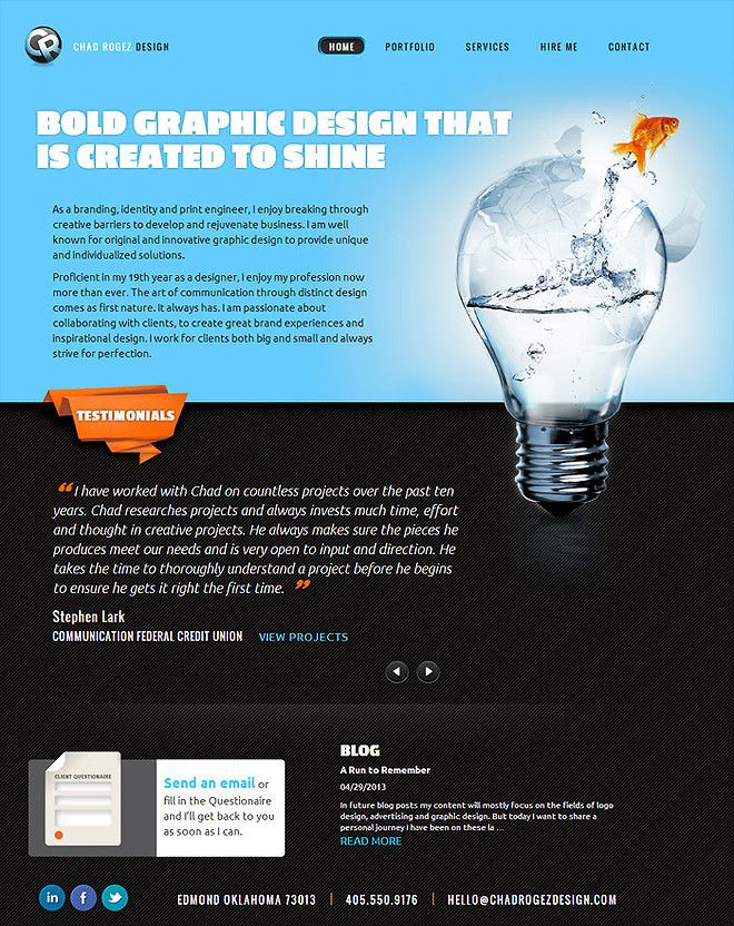 Chad Rogez Design - CoolHomepages Web Design Gallery | design_ web ...