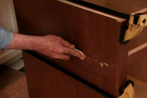 How to repair damaged kitchen cabinets. #diy | Kitchen ...