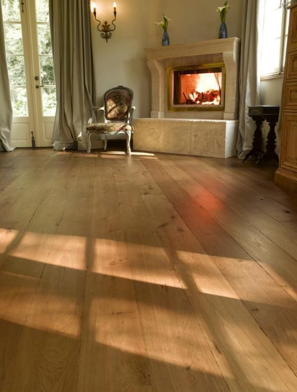 French Wide Engineered Oak Plank Flooring Floorboards Thick Timber