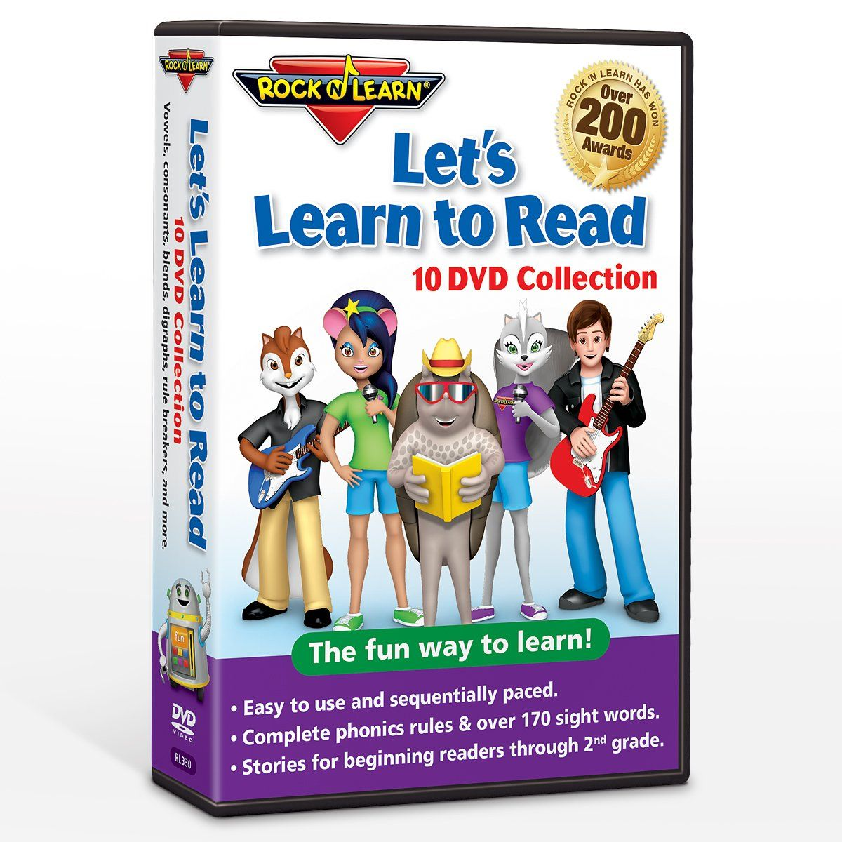 Let S Learn To Read 10 Dvd Collection