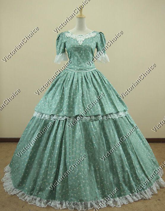 Civil War Southern Belle Ball Gown Dress Reenactment Clothing ...