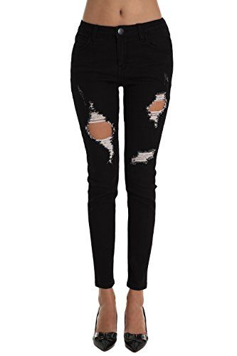 Skinny Jeans Zlz Women S Ripped Distressed Destroyed