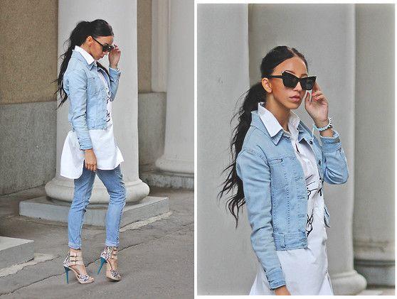 Christina Dafina - Oasap Shirt - White&blue