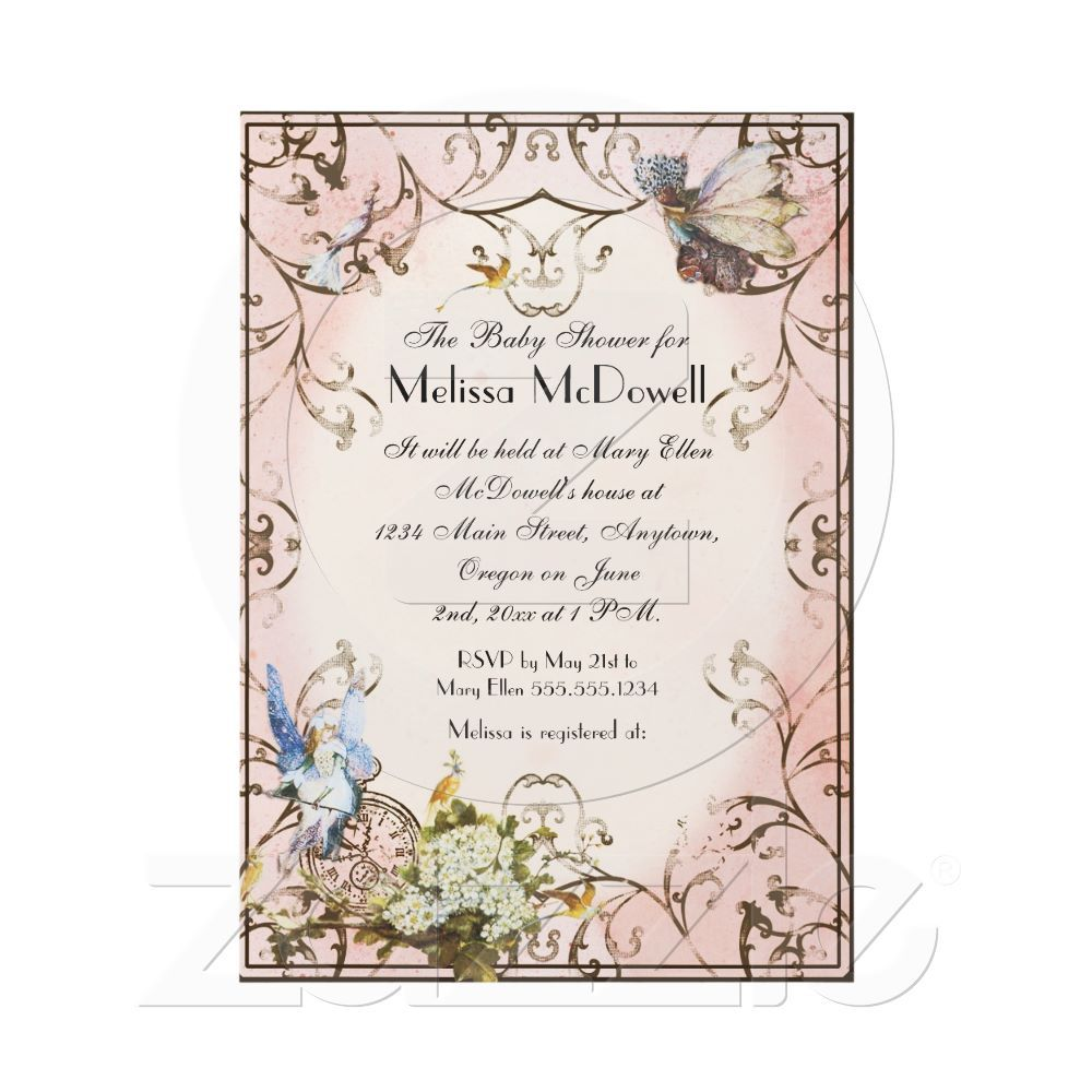 Baby Shower Invitation Enchanted Faerie Princess From Zazzle