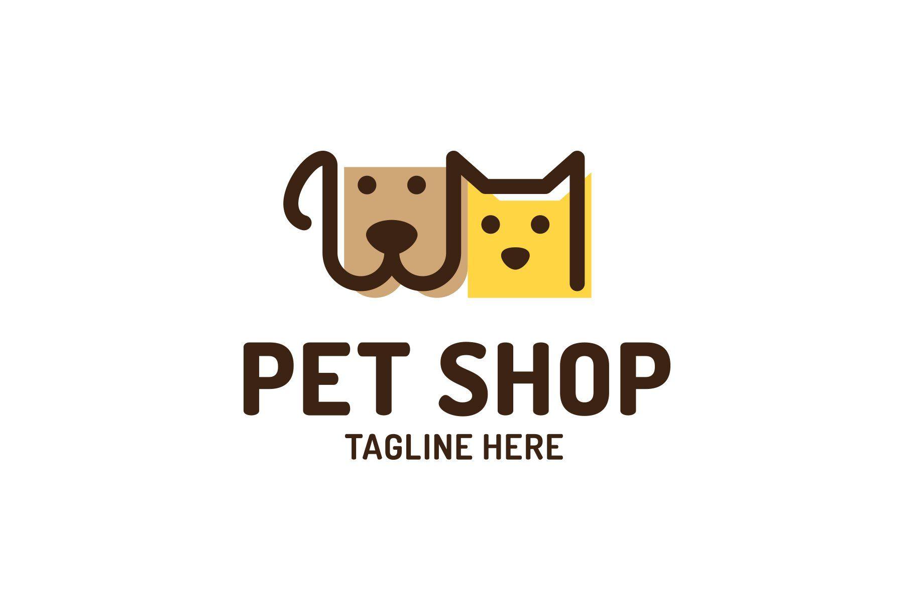 Pet Shop Logo In 2020 Pet Shop Logo Cat Logo Design Pet Shop Logo Design