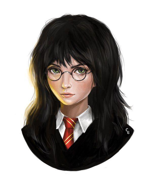 What If Harry And Draco Were Girls Artist Unkown Female Harry Potter Fem Harry Potter Harry Potter Fan Art