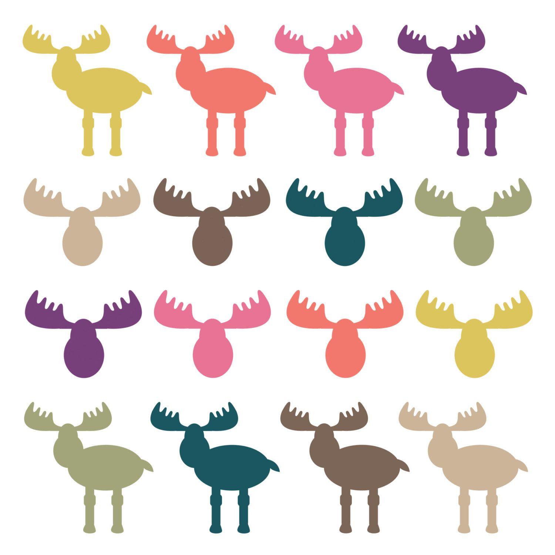 instant download moose clipart moose heads woodland clipart rh pinterest ca december clip art for kids december clip art borders