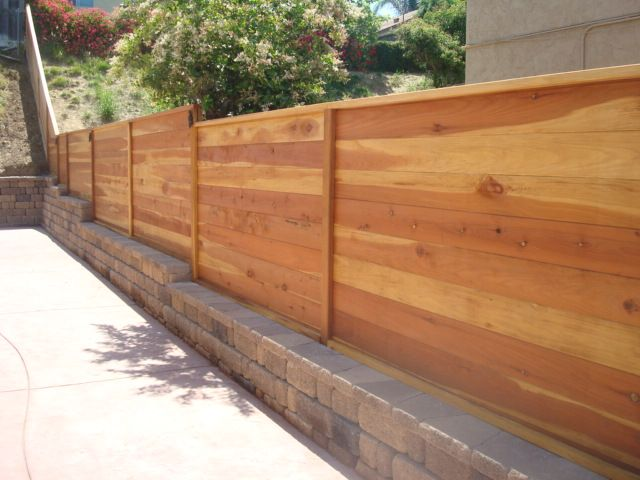 horizontal wooden fence Google Search