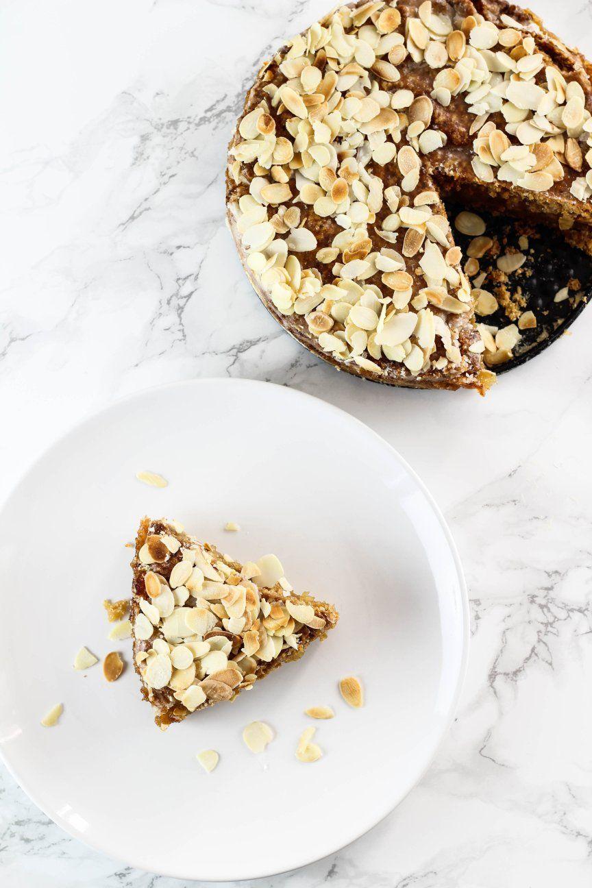 Veganer gedeckter Apfelkuchen (schnelles Rezept)