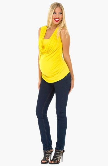b80d406e4f05d Olian Maternity Cowl Neck Sleeveless Top available at #Nordstrom ...