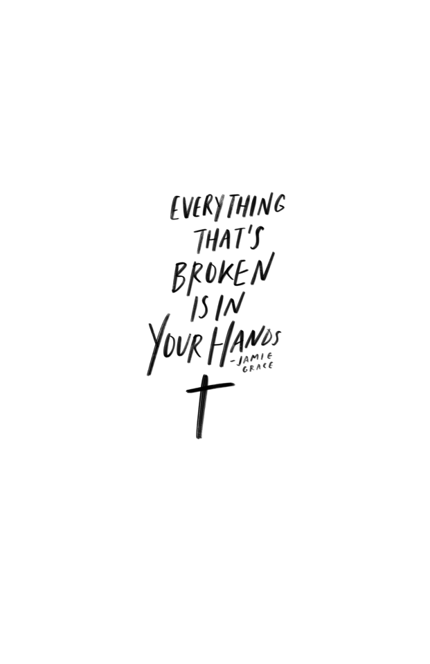 even though i'm broken is in Your hands Poster | Gods strength ...