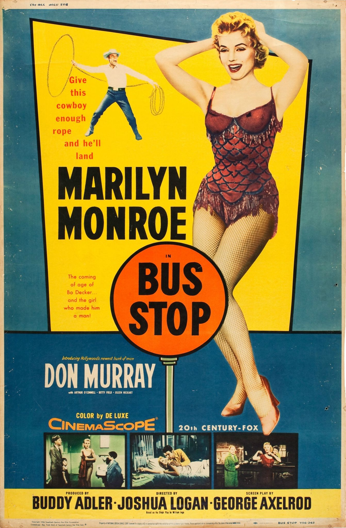 Image result for photos of marilyn monroe bus stop poster