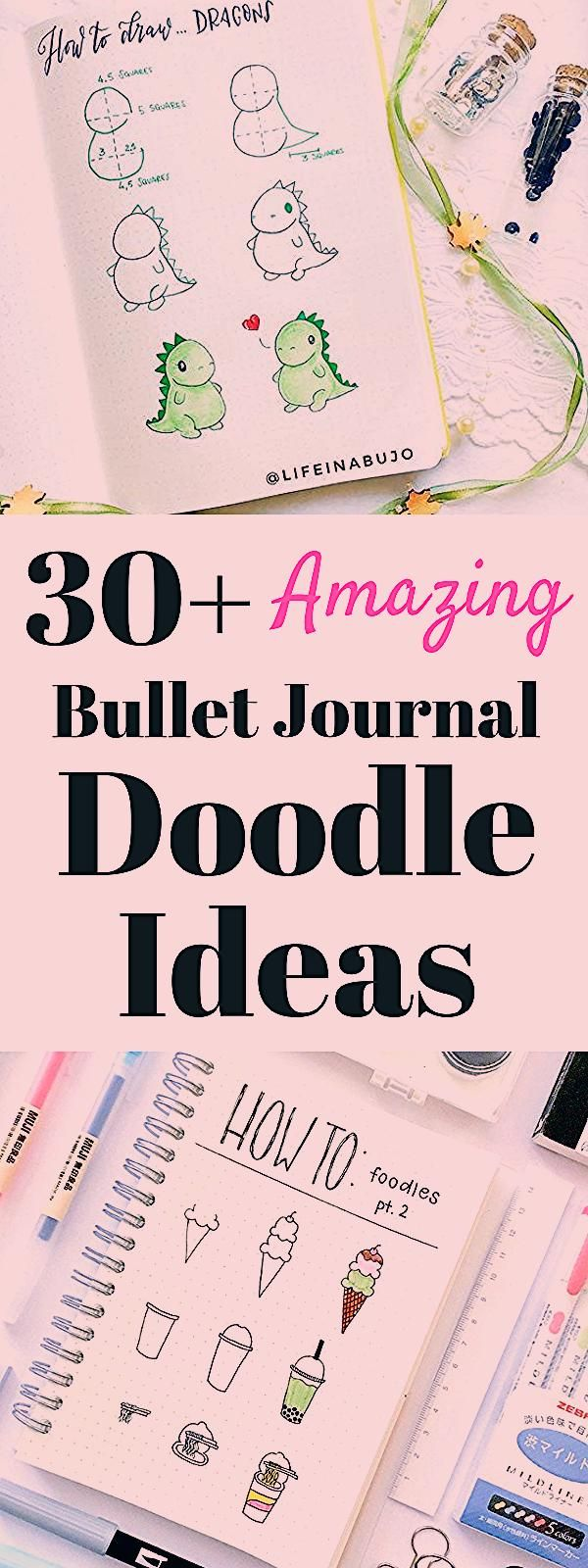 Doodle drawing that are easy to do! Over 30 step by step doodle tutorials and how to's. Bullet journal doodle ideas that are fresh, fun, and simple to draw! Bullet journal doodles, doodle ideas, easy doodles. #bulletjournal #doodle