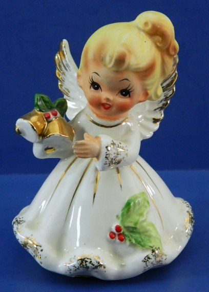 christmas angel figurine josef originals japan bells