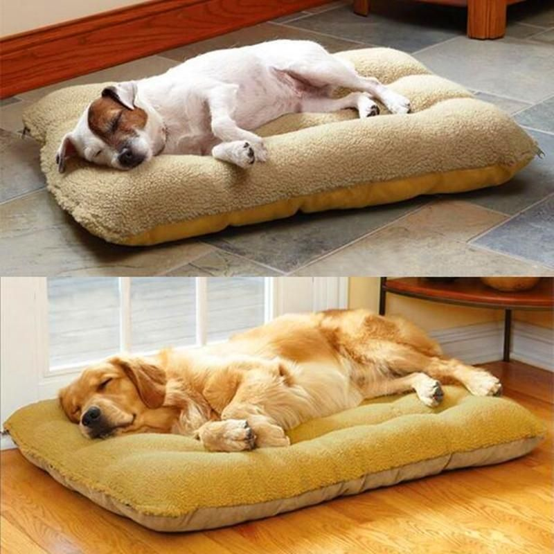 Soft Lambskin Cushioned Luxury Dog Bed For Pets Fleece Pet Bed Dog Bed Large Dog Cushions