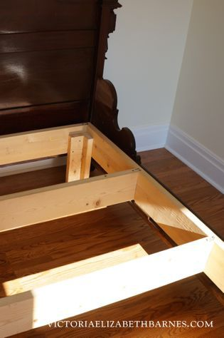 retrofitting our craigslist bed diy custom antique bed frame bed redo antique beds full. Black Bedroom Furniture Sets. Home Design Ideas