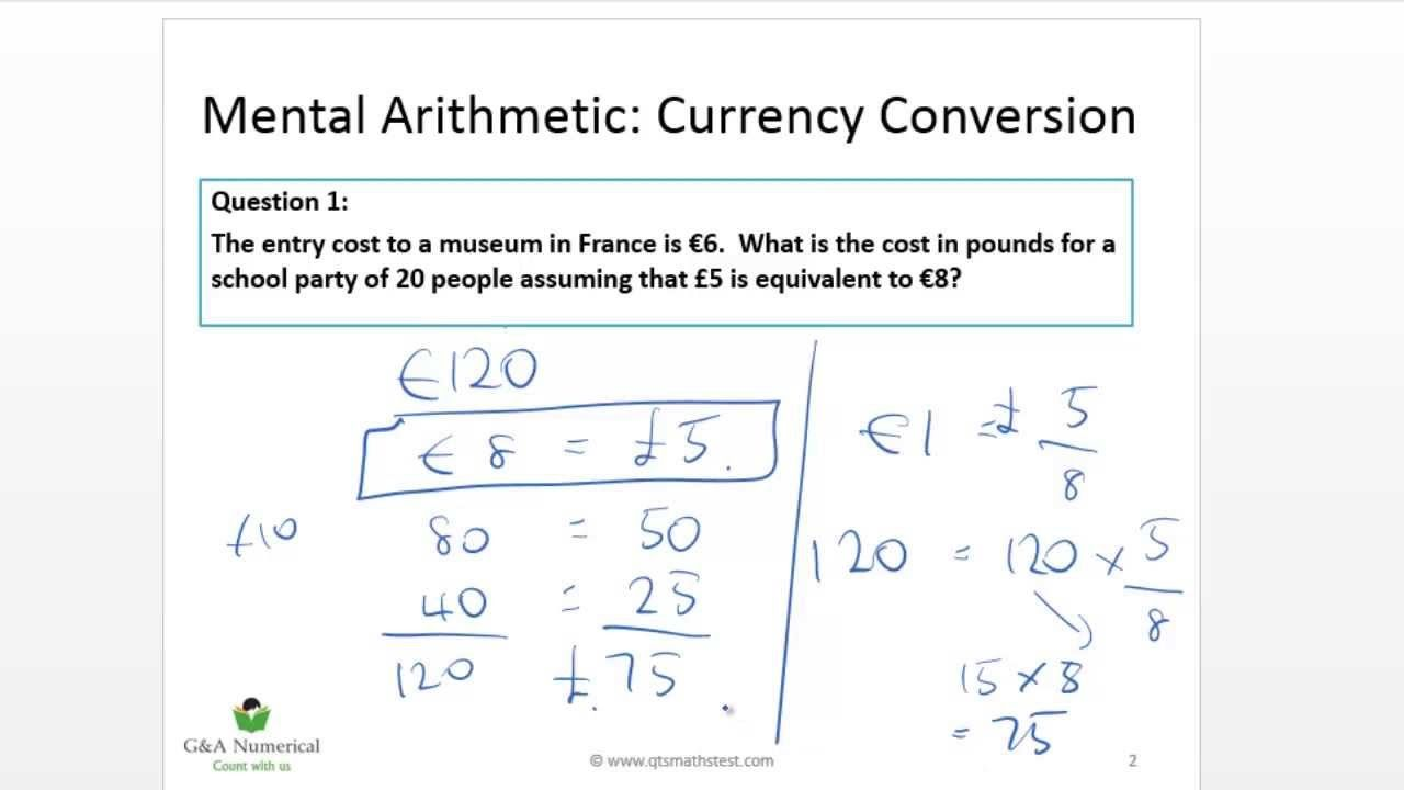 cabin crew currency conversion test