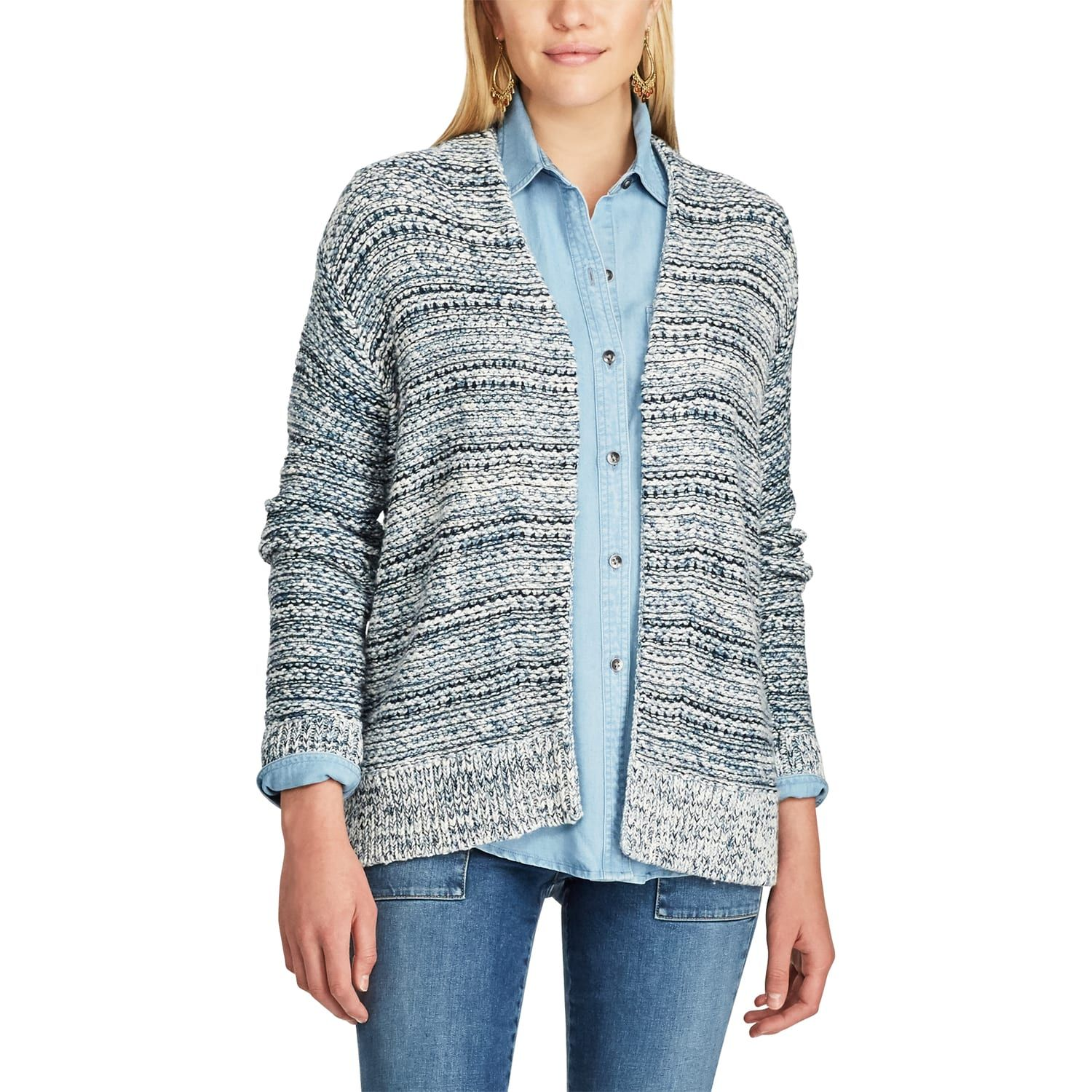 Women's Chaps Marled Open Front Cardigan | Marled cardigan