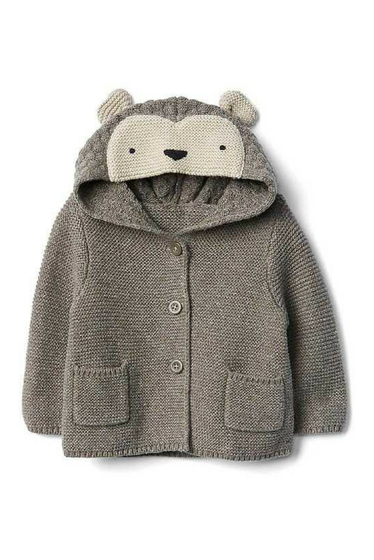 Adorable Hedgehog hooded button up sweater for kids #affiliate ...