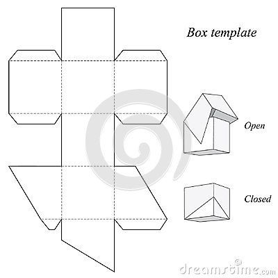 Square Box Template With Lid Box Template Paper Box Template Origami Box