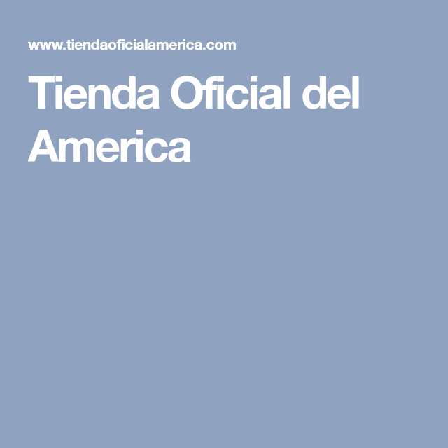 Tienda Oficial del America