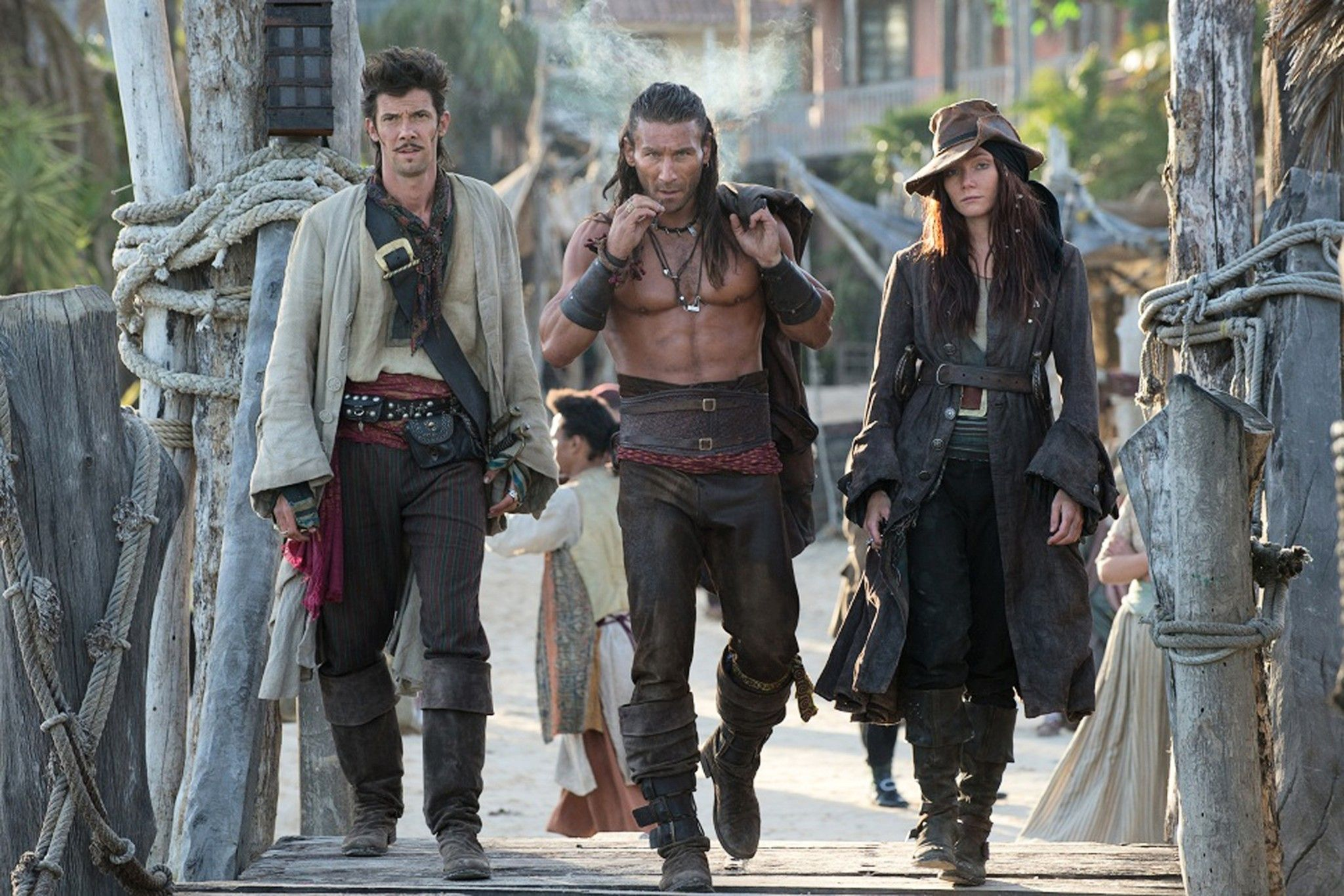 Black Sails Starz   ... Rackham, Vane and Bonny... what a crew