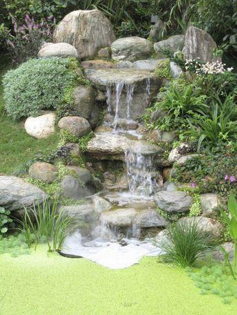 Waterfall garden beautiful garden ideas Fairy Gardens Pinterest - Cascadas En Jardines