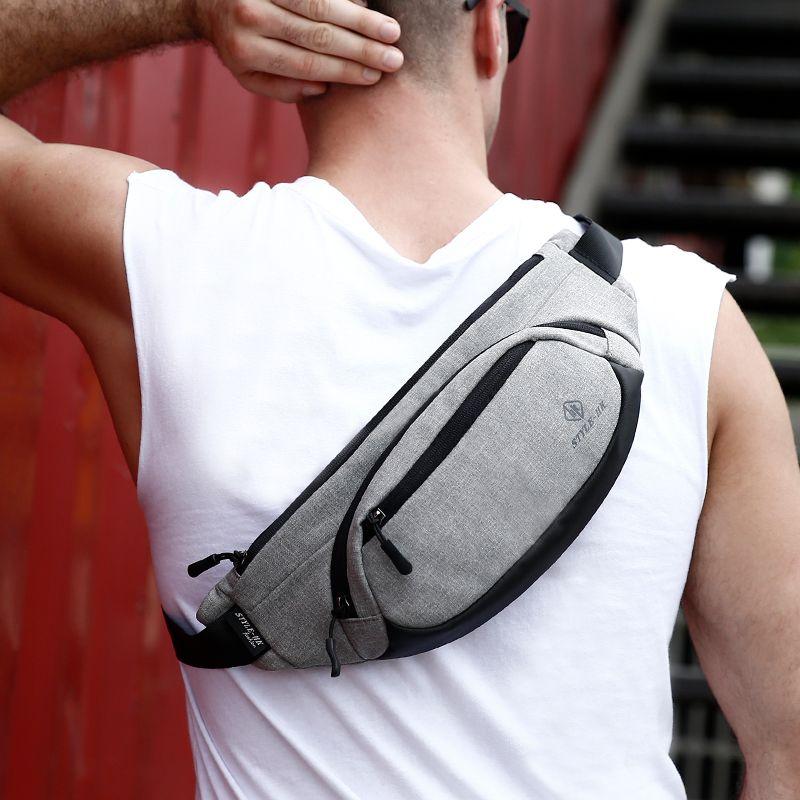 US Men Fanny Pack Anti-theft Wallet Waterproof Waist Belt Bag Crossbody Backpack