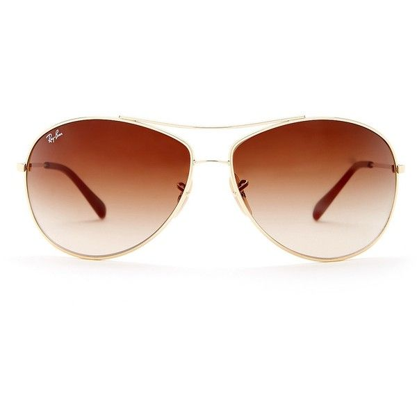 12da68975367b Ray-Ban Women s Aviator Sunglasses ( 80) ❤ liked on Polyvore featuring  accessories