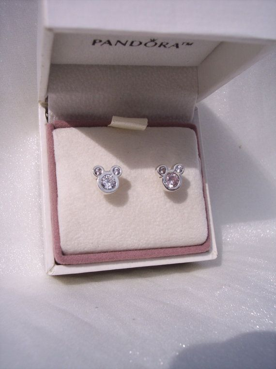 335202716 Dazzling Mickey Mouse Clear CZ Stud Genuine by JEWELSELAGANT Pandora Disney  Collection, Pandora Earrings,