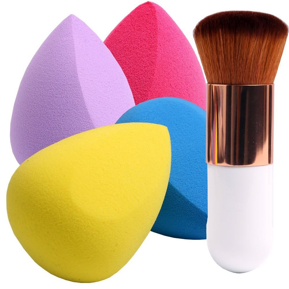 Women Colorful Makeup Sponges with Foundation Brush for