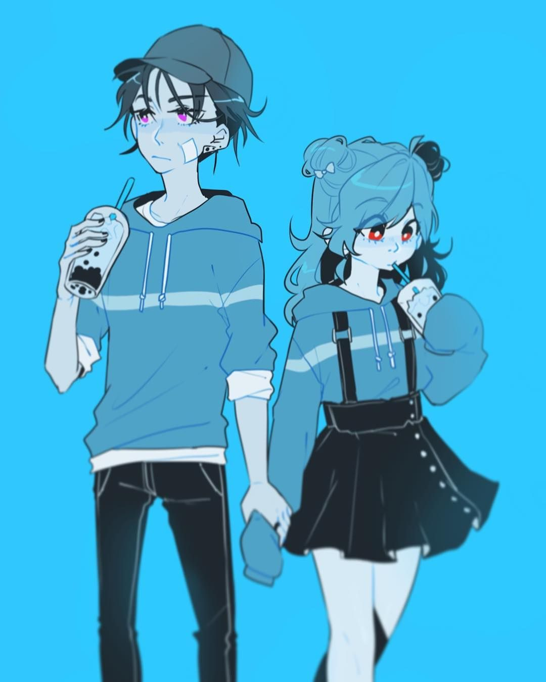 Boba Date Lovelyfriendship Anime Art