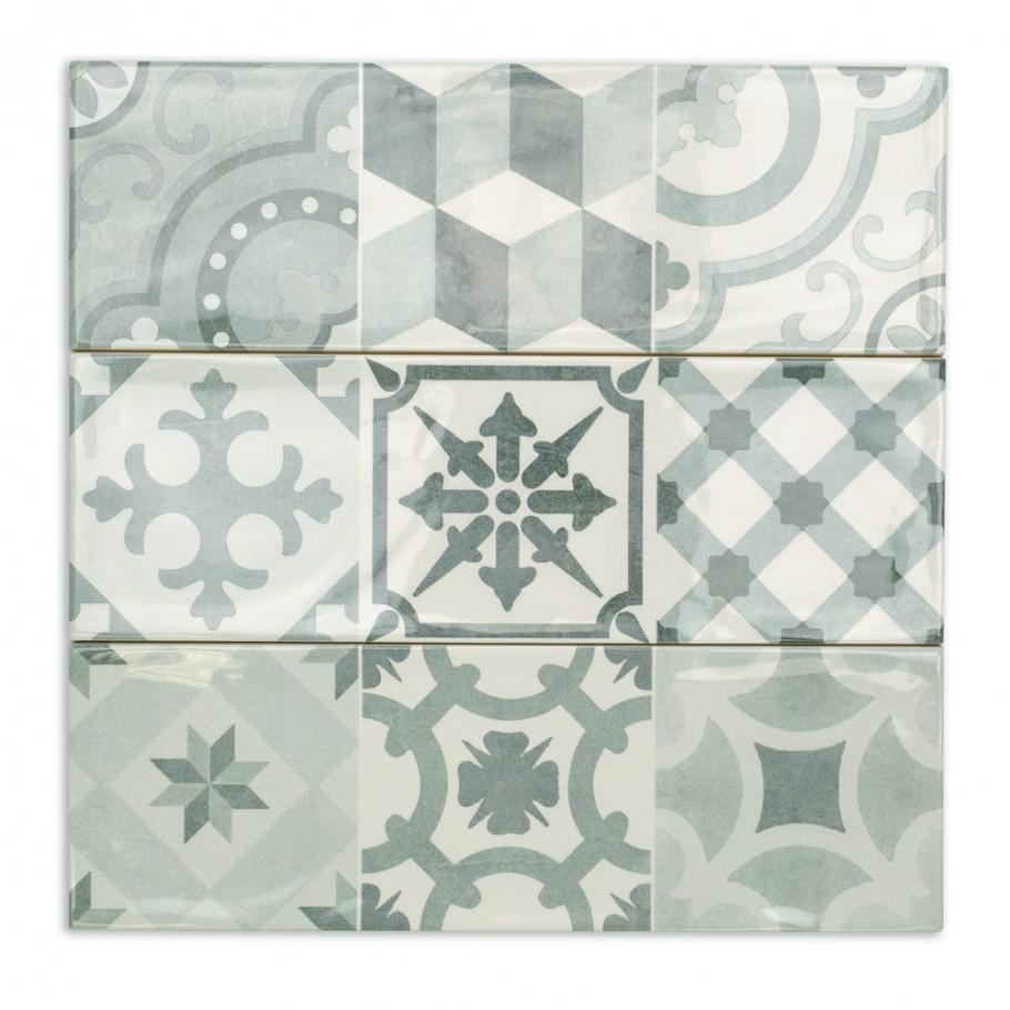 Santa Monica Cold Deco 4x12 Ceramic Tile In 2020 Ceramic